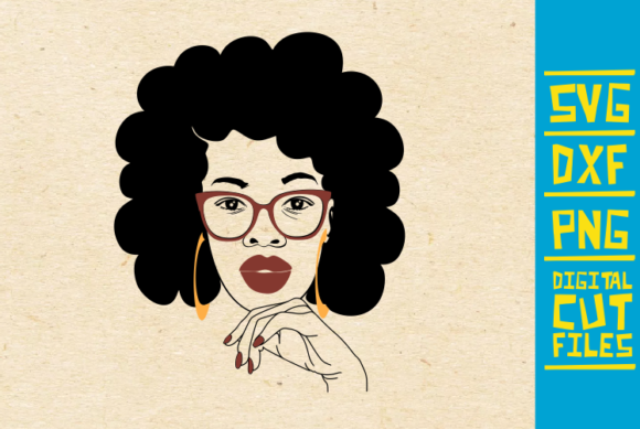Amazing Afro Woman Svg Nails Red Lips Graphic By