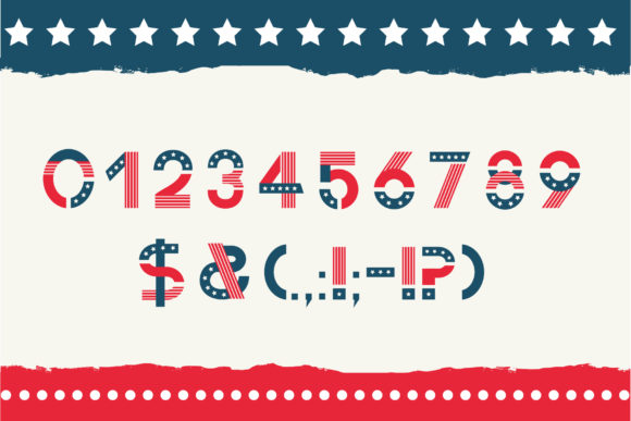 Print on Demand: America Color Fonts Font By Peliken - Image 2