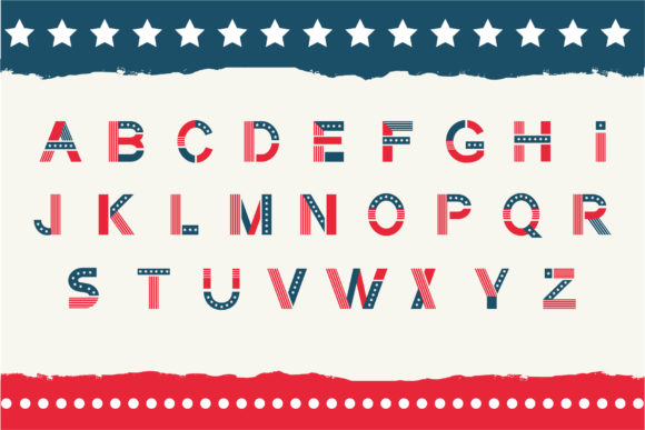 Print on Demand: America Color Fonts Font By Peliken - Image 3