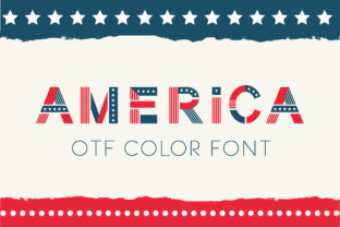 Print on Demand: America Color Fonts Font By Peliken