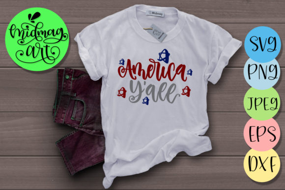 America Y'all Svg, 4th of July Svg Graphic Objects By MidmagArt