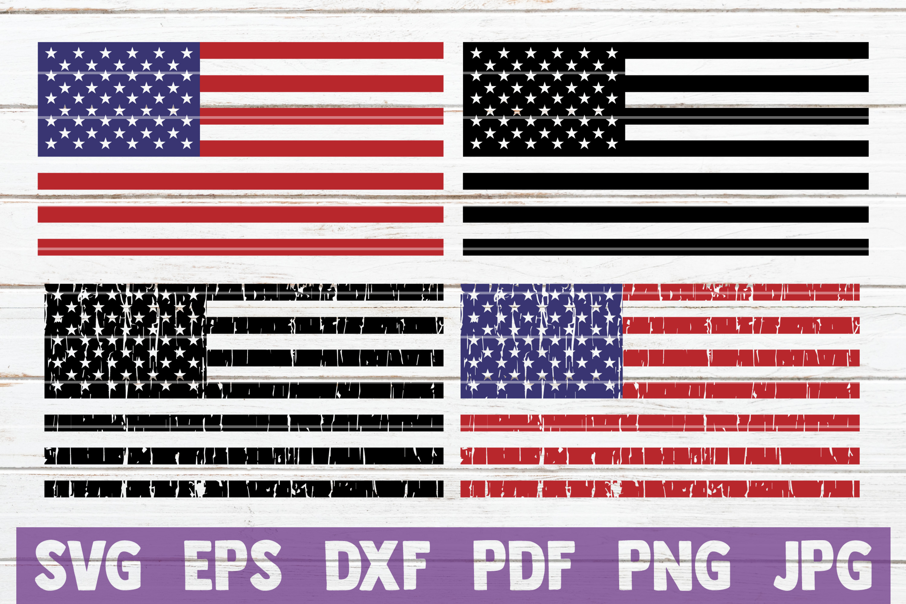 Download Free American Flags Bundle Graphic By Mintymarshmallows Creative for Cricut Explore, Silhouette and other cutting machines.