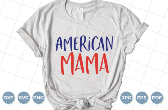 American Mama Graphic Crafts By luxedesignartetsy
