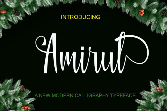 Print on Demand: Amirul Script & Handwritten Font By Ogex86