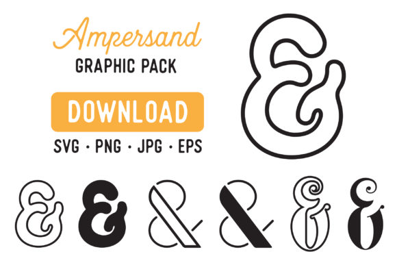 Download Free Ampersand Vector Cutfile Graphic Pack Graphic By The Gradient for Cricut Explore, Silhouette and other cutting machines.