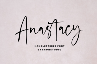Anastacy Font By Sronstudio