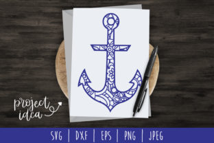 Anchor Mandala Zentangle Graphic By SavoringSurprises