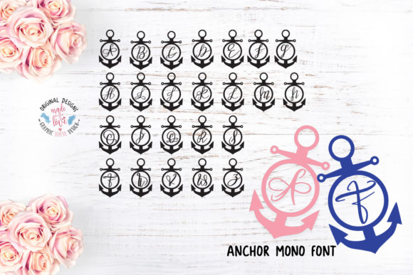 Print on Demand: Anchor Decorative Font By GraphicHouseDesign