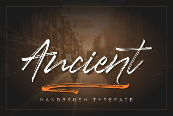 Print on Demand: Ancient Script & Handwritten Font By studioashshiddiq - Image 1