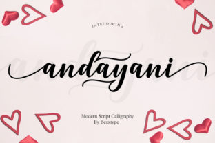 Andayani Script Font By Bexx Type
