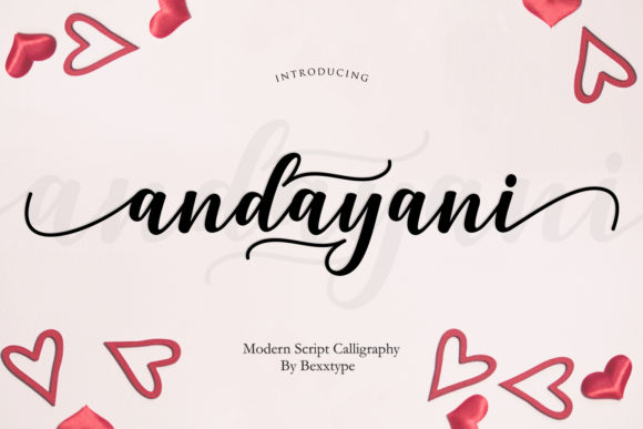 Print on Demand: Andayani Script Script & Handwritten Font By Bexx Type