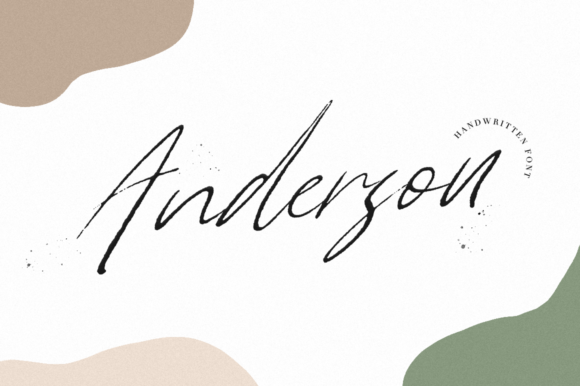 Print on Demand: Anderson Script & Handwritten Font By Pasha Larin