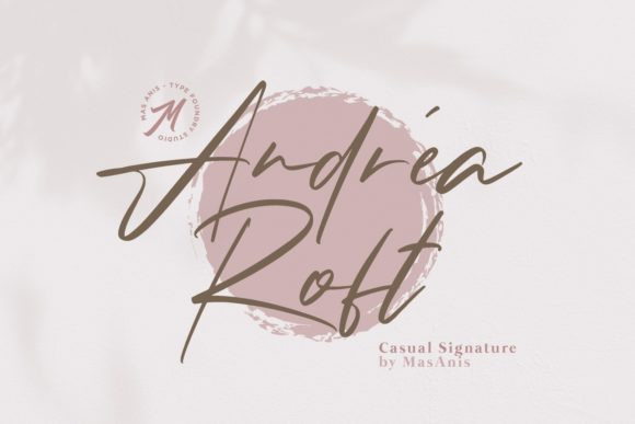 Print on Demand: Andrea Roft Script & Handwritten Font By Mas Anis