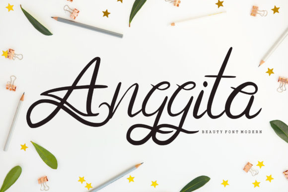 Print on Demand: Anggita Script & Handwritten Font By Vunira