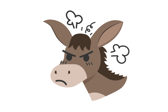 Download Free Angry Donkey Svg Cut File By Creative Fabrica Crafts Creative for Cricut Explore, Silhouette and other cutting machines.