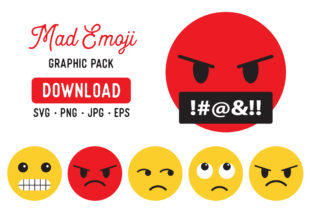 Angry Emoji Clipart Graphic Bundle Graphic By The Gradient Fox
