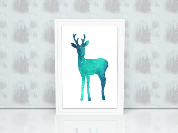 Print on Demand: Animals in Lights. Watercolor Set Graphic Illustrations By Natalia Arkusha