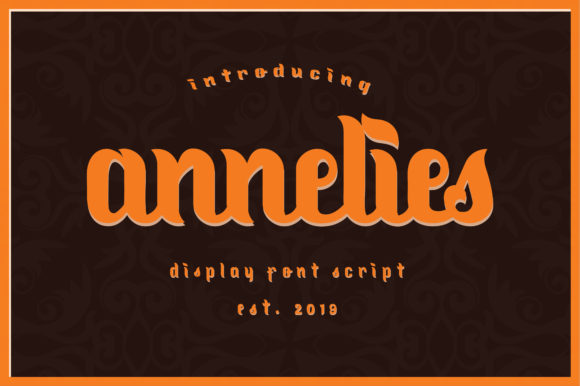 Print on Demand: Annelies Display Font By Libscript