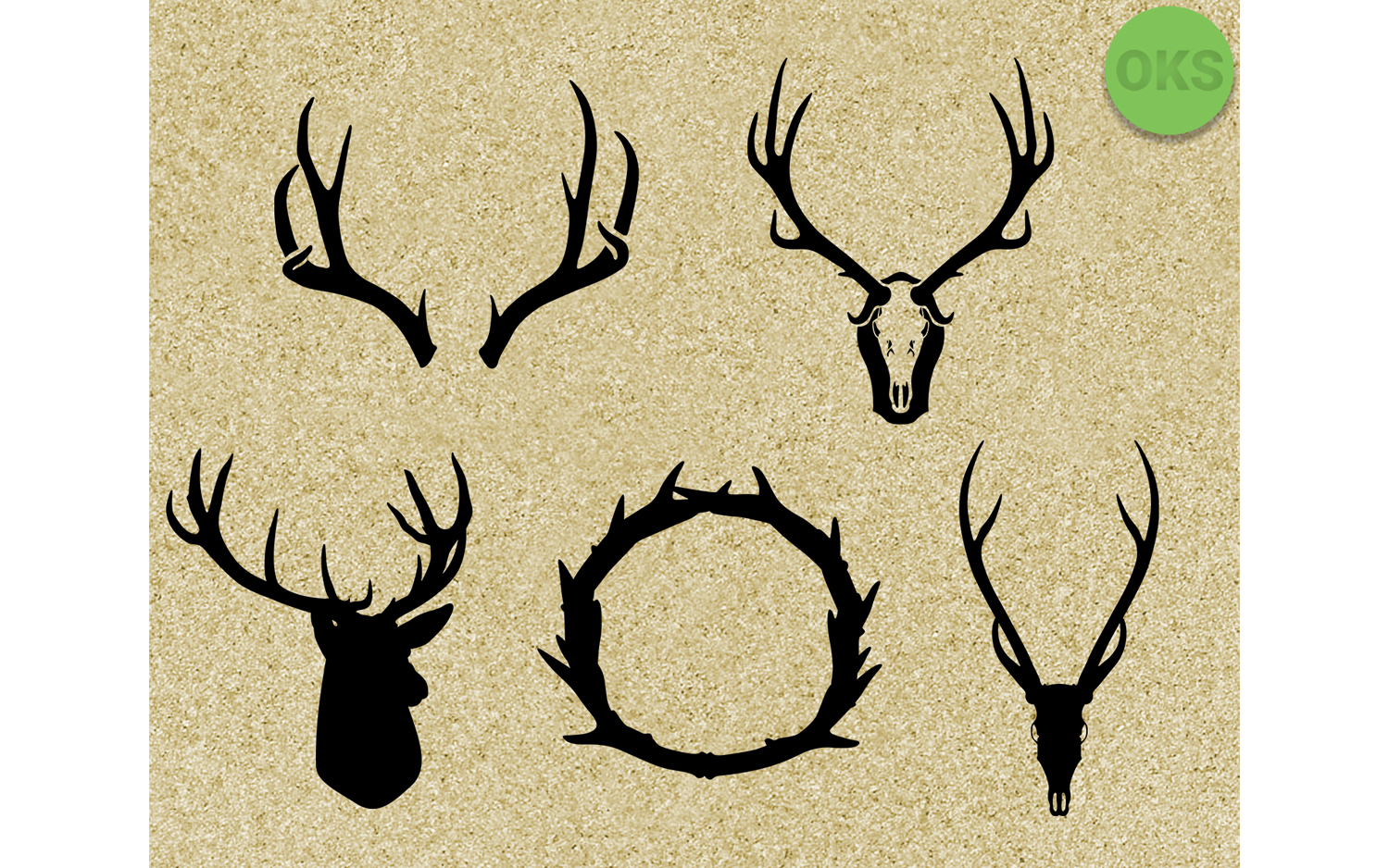 Download Free Antlers Graphic By Crafteroks Creative Fabrica for Cricut Explore, Silhouette and other cutting machines.