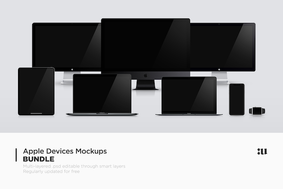 Apple Devices Mockups Bundle Graphic Product Mockups By unio.creativesolutions - Image 1