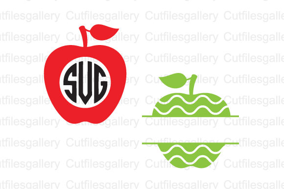 Download Free Apple Monogram Graphic By Cutfilesgallery Creative Fabrica for Cricut Explore, Silhouette and other cutting machines.