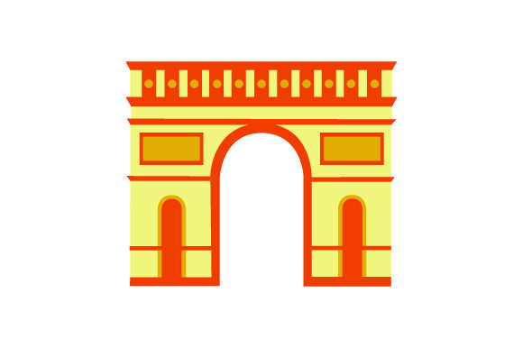 Arc De Triomphe France Craft Cut File By Creative Fabrica Crafts - Image 1