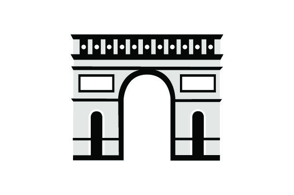 Arc De Triomphe France Craft Cut File By Creative Fabrica Crafts - Image 2