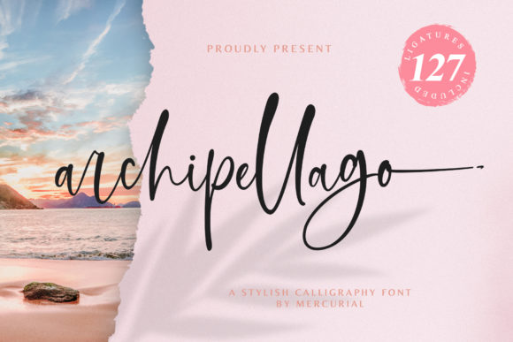 Print on Demand: Archipellago Script & Handwritten Font By Mercurial - Image 1