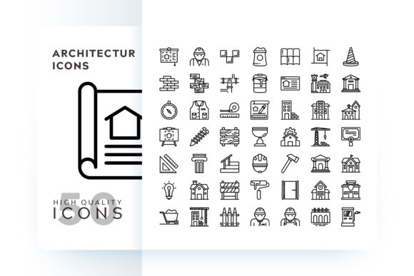 Architecture Icons Graphic Icons By Goodware.Std
