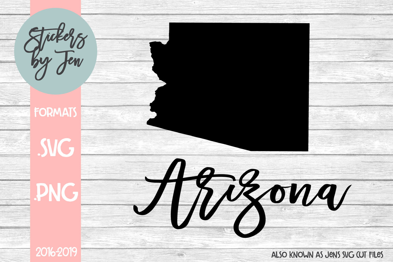 Download Free Arizona Graphic By Stickers By Jennifer Creative Fabrica for Cricut Explore, Silhouette and other cutting machines.