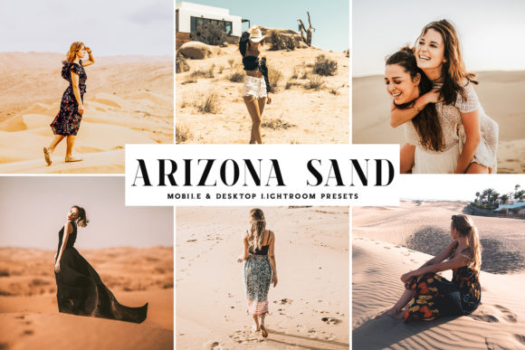 Print on Demand: Arizona Sand Lightroom Presets Pack Graphic Actions & Presets By Creative Tacos