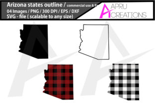 Print on Demand: Arizona Vector Map Graphic Crafts By aparnastjp