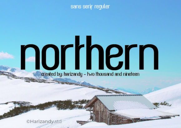 Print on Demand: Arnorth Sans Serif Font By harizandy