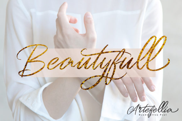 Print on Demand: Artefellia Script & Handwritten Font By feydesign - Image 5