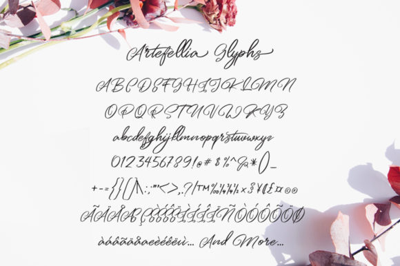 Print on Demand: Artefellia Script & Handwritten Font By feydesign - Image 6