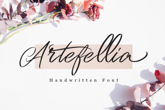 Print on Demand: Artefellia Script & Handwritten Font By feydesign