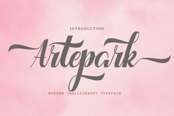 Print on Demand: Artepark Script & Handwritten Font By Microcreative - Image 1