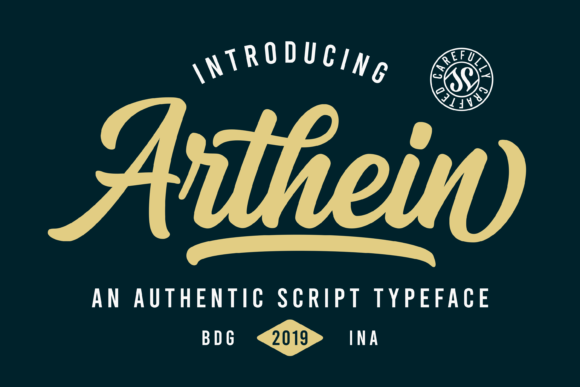 Print on Demand: Arthein Script & Handwritten Font By Sibelumpagi Studio