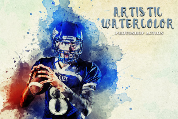 Artistic Watercolor Photoshop Action Graphic Actions & Presets By Creative Creator