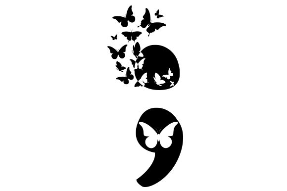 Download Free Artsy Semicolon Svg Cut File By Creative Fabrica Crafts for Cricut Explore, Silhouette and other cutting machines.