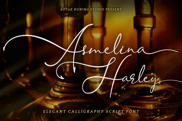 Print on Demand: Asmelina Harley Script & Handwritten Font By Kotak Kuning Studio