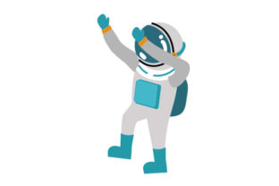 Astronaut Dabbing Craft Design By Creative Fabrica Crafts