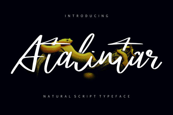 Print on Demand: Atalintar Script & Handwritten Font By Vunira