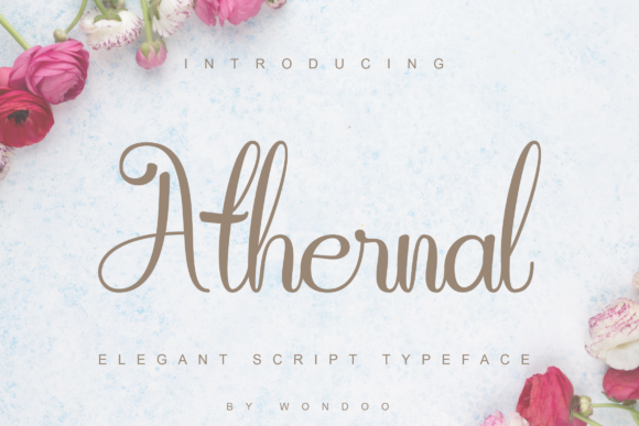 Print on Demand: Athernal Script & Handwritten Font By Wondoo