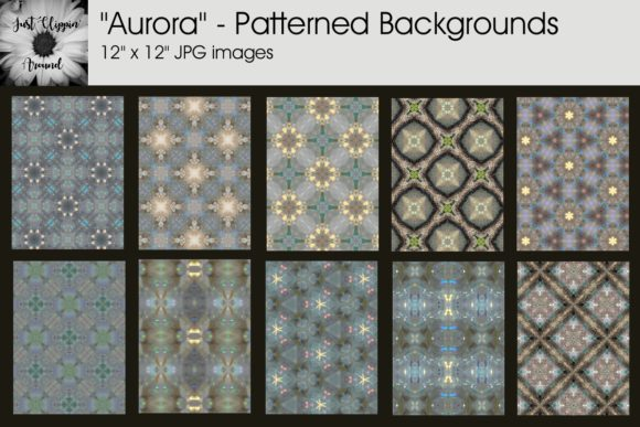 Aurora Patterned Backgrounds Graphic By justclippinaround
