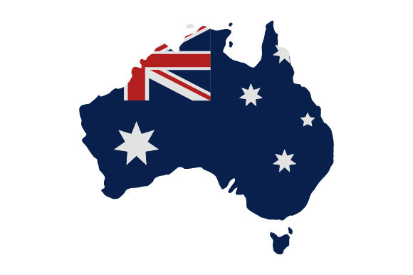 Download Free Australia Map With Flag Graphic By Marco Livolsi2014 Creative for Cricut Explore, Silhouette and other cutting machines.