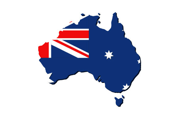 Download Free Australia Map With Flag Graphic By Marco Livolsi2014 Creative Fabrica for Cricut Explore, Silhouette and other cutting machines.