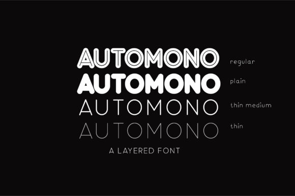 Print on Demand: Automono Sans Serif Font By Caoca Studios - Image 2