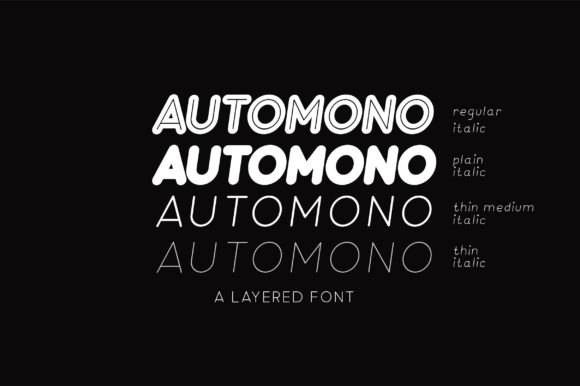 Print on Demand: Automono Sans Serif Font By Caoca Studios - Image 3