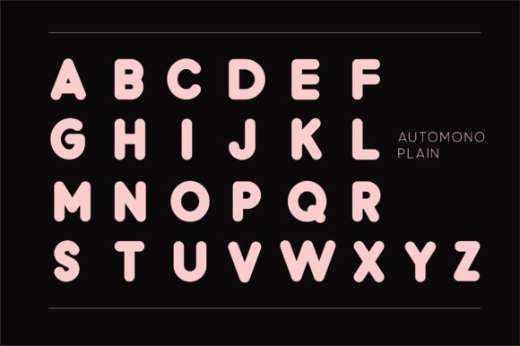 Print on Demand: Automono Sans Serif Font By Caoca Studios - Image 5